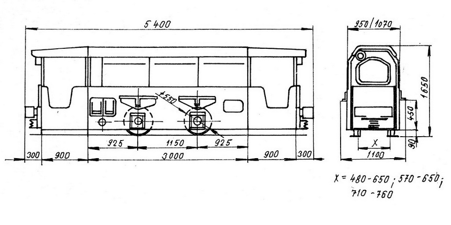 Důlní lokomotiva DH 70 D-1