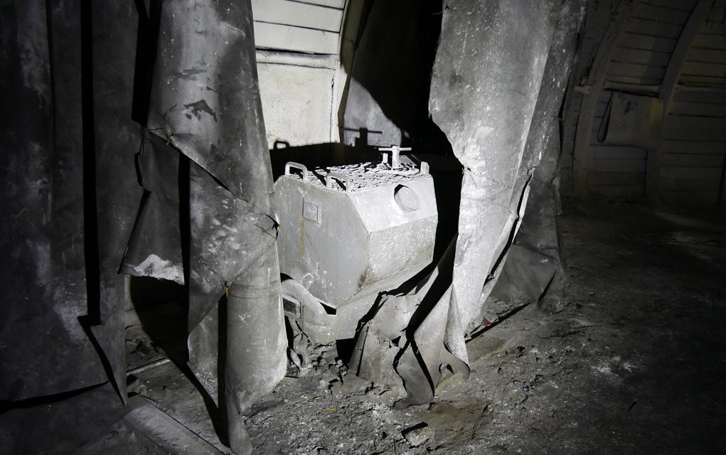 Důlní vůz záchodový