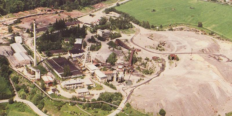 Letecký pohled na Důl Rožná I