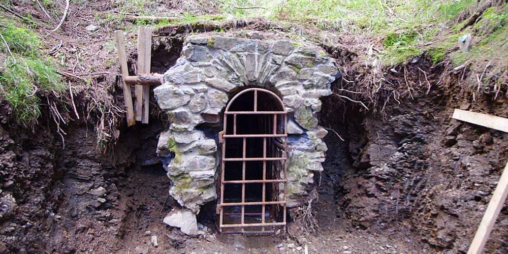 Vstupní portál štoly Johannes před rekonstrukcí