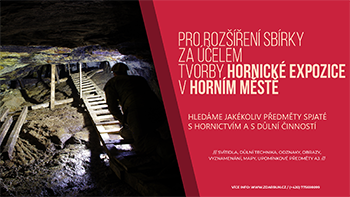 Banner hornicka expozice